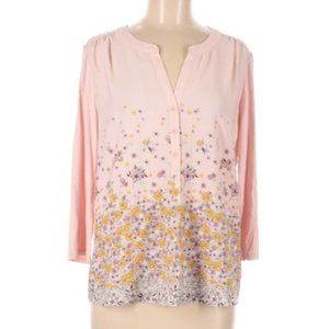 -light pink Floral Top - 3/4 Sleeve NWT